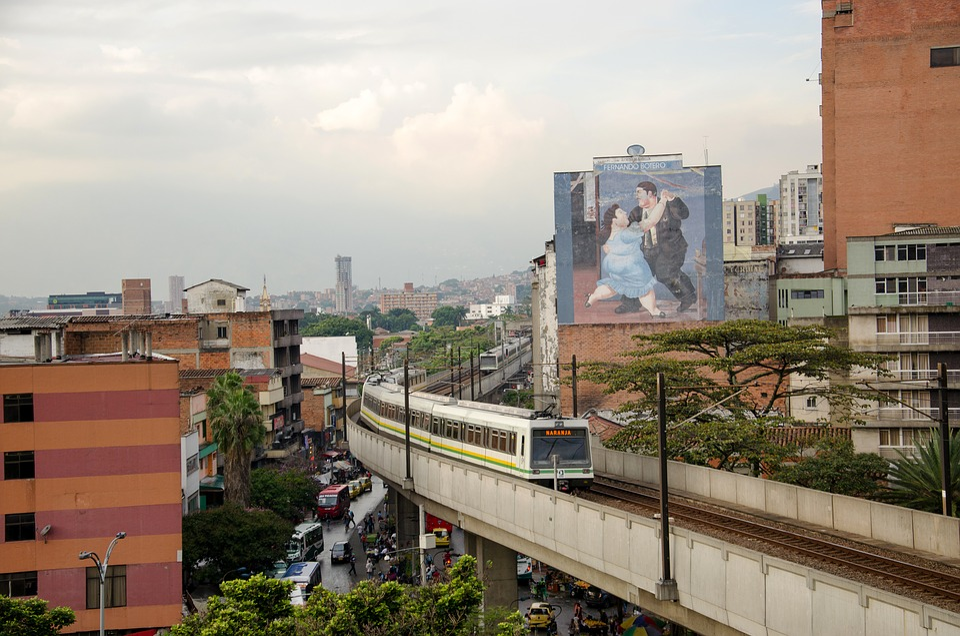 Medellin, Colombia, Train, Metro, Rails, Railway