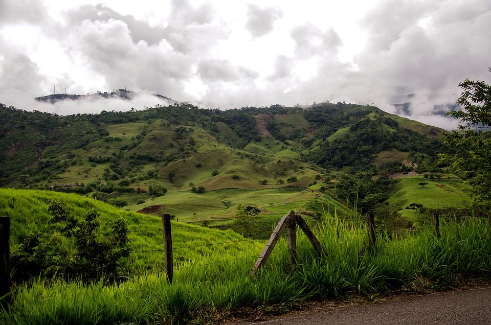 Colombia, Kaffeezone, Montañas, Paisaje, La Naturaleza