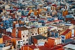 town, building, urban
