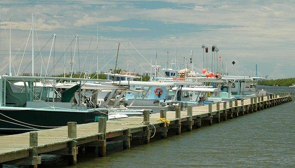 Commercial Fishing, Boat, Netter, Dock