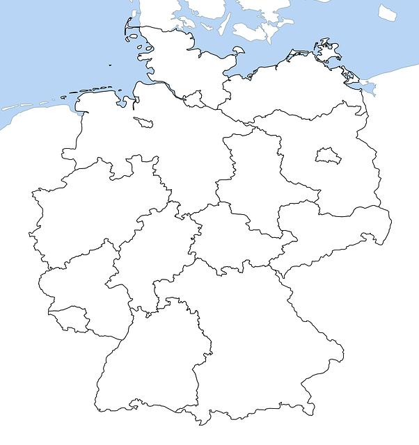free illustration germany map all provinces free image on pixabay 2431250. Black Bedroom Furniture Sets. Home Design Ideas