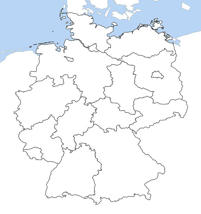 Germany Map All Provinces Land Free image on Pixabay