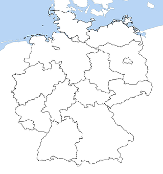Germany Map Free Pictures On Pixabay - Germany map pictures