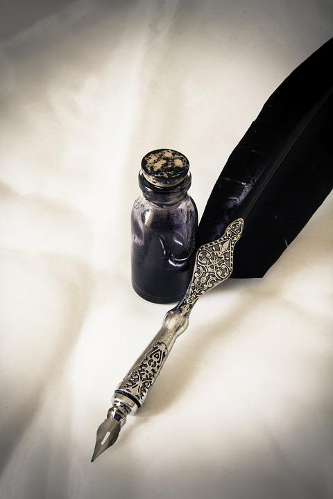 Quill Pen, Ink, Feather, Old, Writing, Vintage