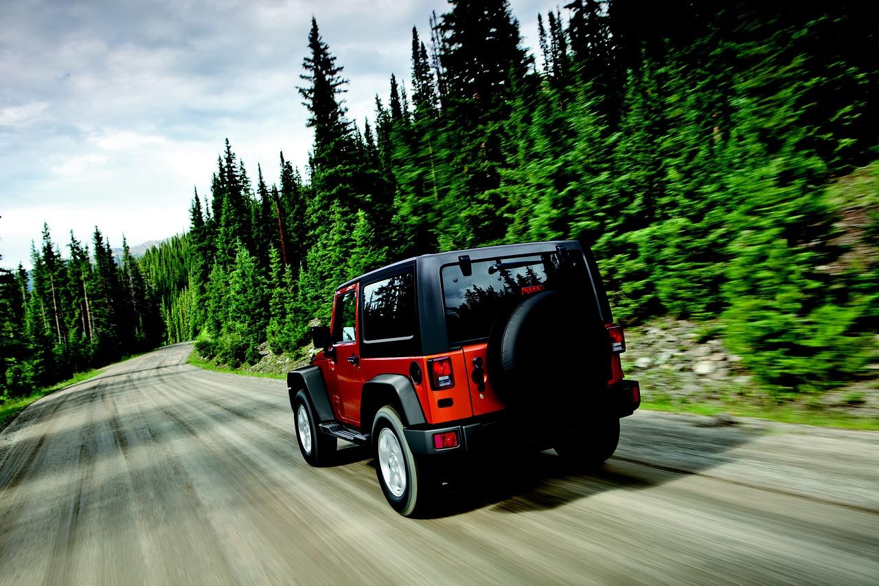 Red Jeep Wrangler