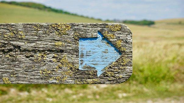 サインポスト, 矢印, 記号, 投稿, 道路, 方向, 道標, シンボル, 青