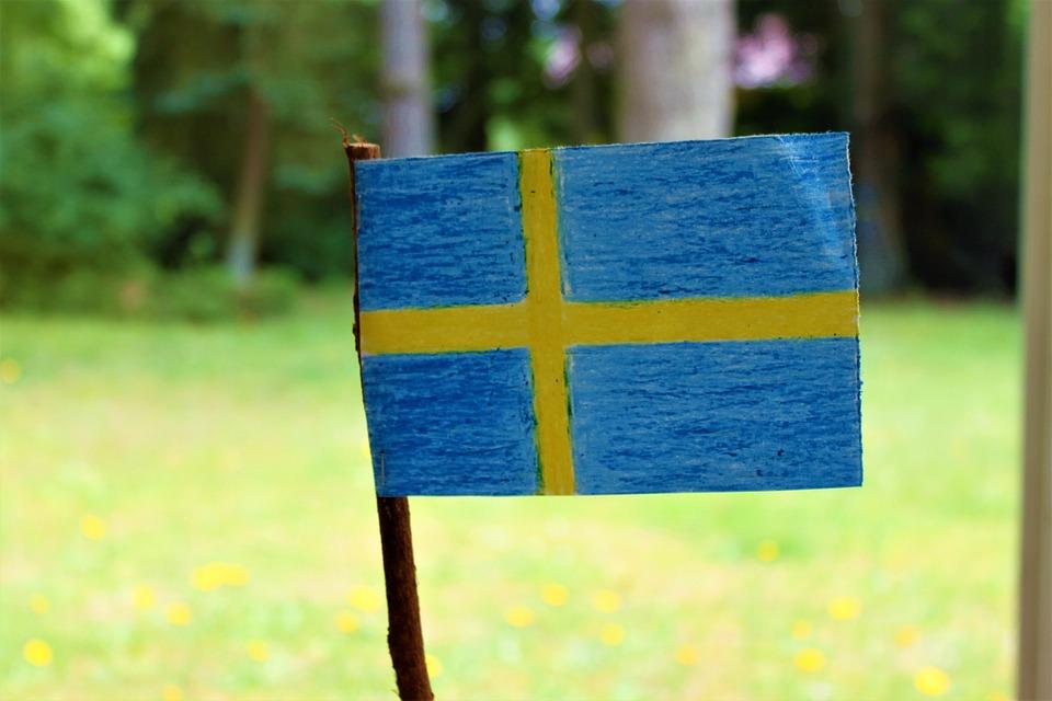 Svenska Flaggan, Sveriges Flagga, Midsommar Sommarlov