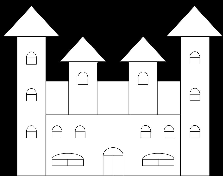 castelo colorir desenho para imagens grátis no pixabay