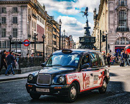 Piccadilly, London, Taxi, England, Uk