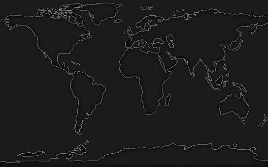 地图, 世界, 地球, 世界地图, 全球, 行星, 地理, 欧洲, 美国, 非洲