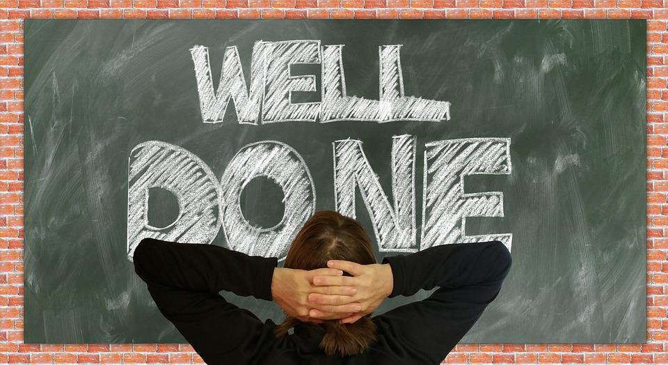 Papan, Sekolah, Dilakukan, Well Done, Kepercayaan Diri