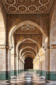 Morocco, Mosque, Building, Casablanca