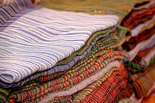 Fabric, Colorful, Morocco, Color, Red