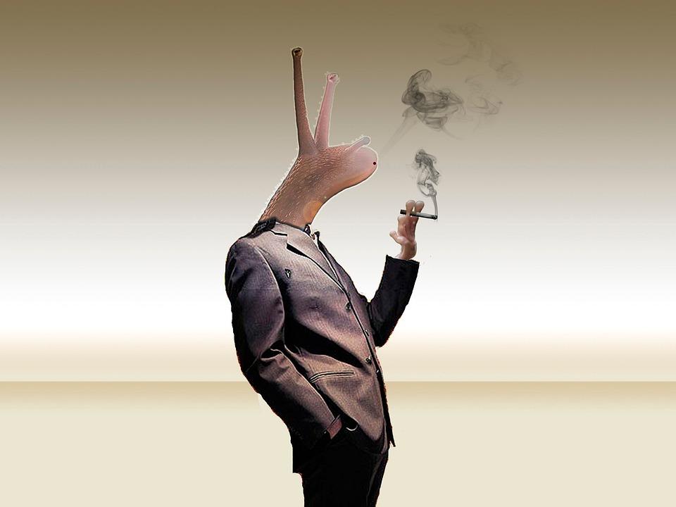 Zblízka fajčenia
