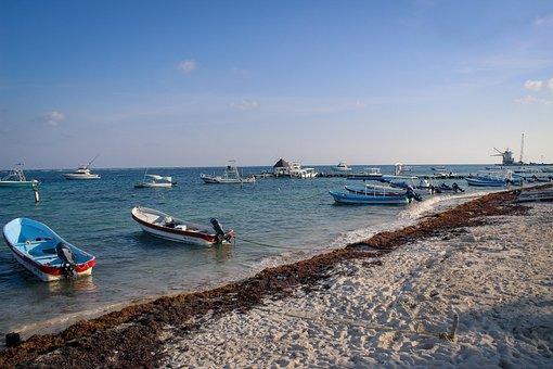 Paysage, Mexique, Ciel, Mer, Nature