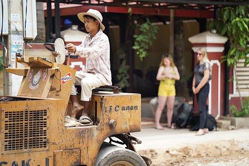 Trabajo Infantil, Camboya, Sitio, Niño