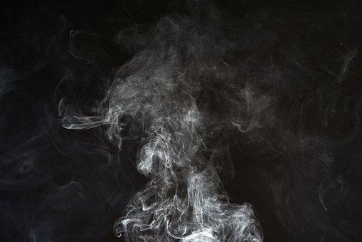 煙, ブラック, 背景, ホワイト, 要約, テクスチャ, 運動, デザイン