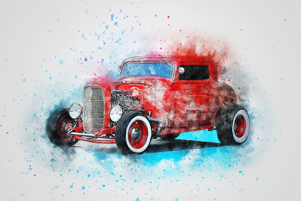 car old art free image on pixabay