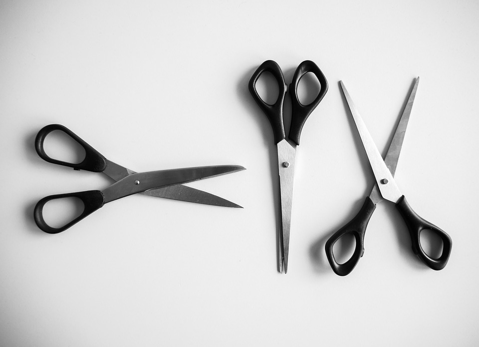 Scissors, Office, Metal, Office Supplies