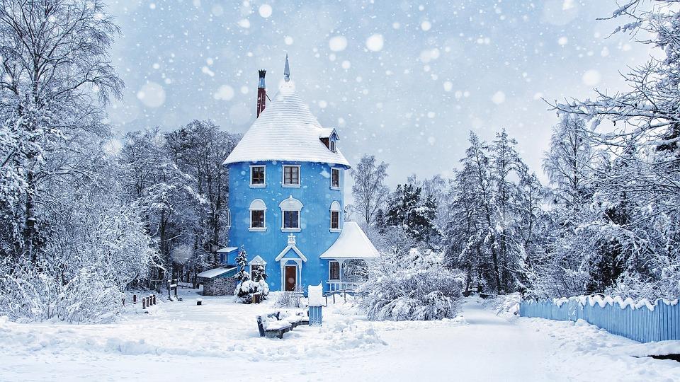 Vintern, Snöat, Muminvärlden, Mumin, Liggande, Is, Kall