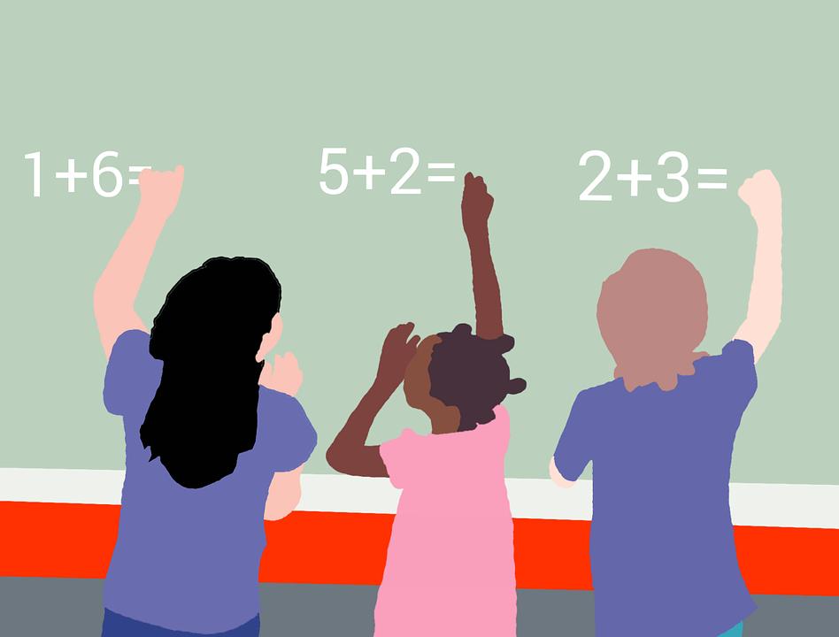 Kids, Study, School, Board, Math, Writing, Answer