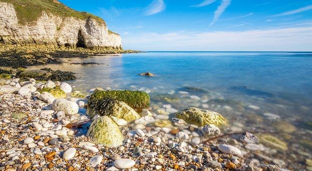Seascape, Spring, Coast, Sunny, Sea
