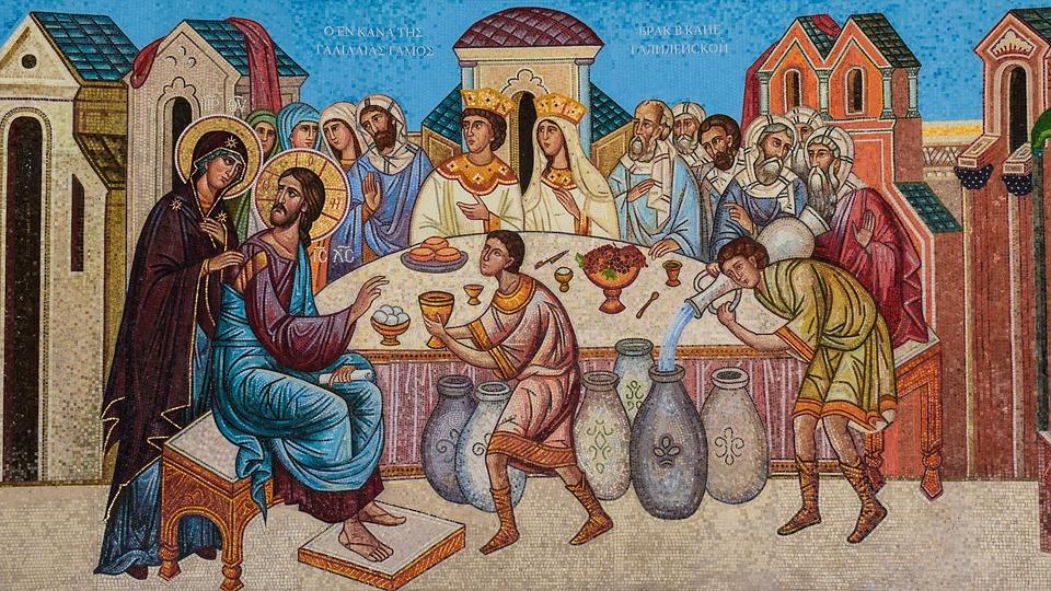 Bodas De Caná, Detalle, Mosaico, Iconografía