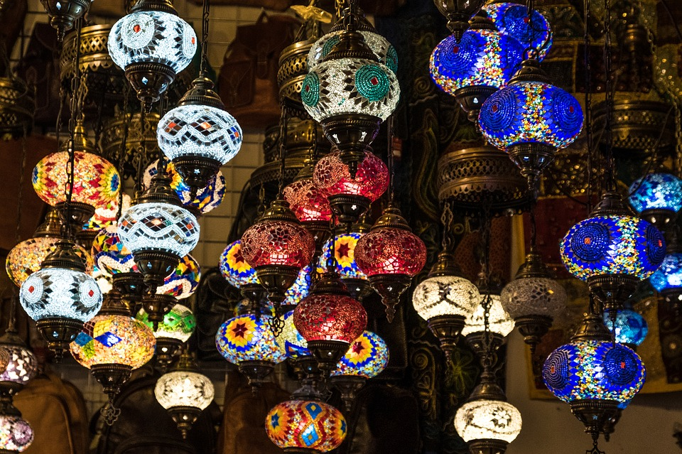 lamps morocco moroccan lights colors colorful