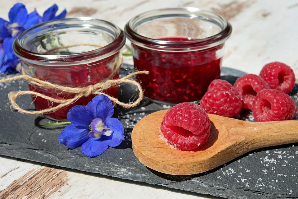 ジャム, ラズベリー, 果物, ビール果物, フルーツ, おいしい, 健康, ビタミン, ベリー, 赤, 甘い