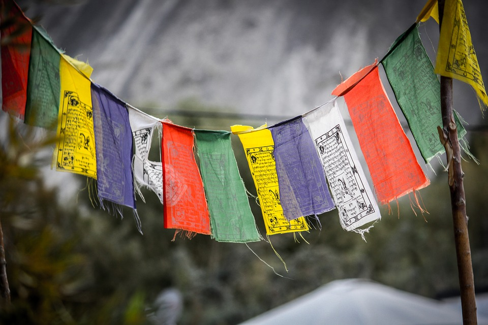 Tibetan prayer flag in Ladakh
