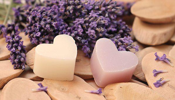 Lavender, Heart, Wood, Soap Heart, Love