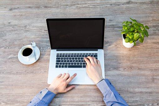 ノート パソコン, ノートブック, 仕事, キーボード, 独立, コンピューター