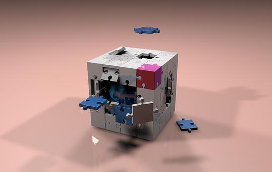 Cubo, Piezas, Figura Geométrica