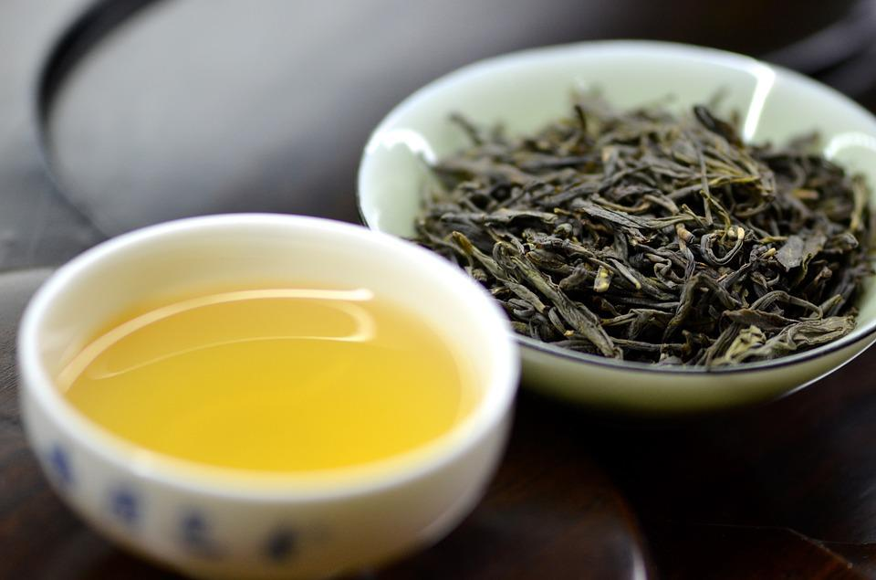 Żółta herbata, filiżanka, herbata