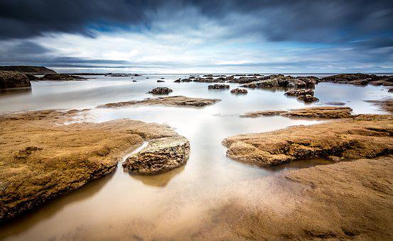 Seascape, Tide, Landscape, Sea, Water