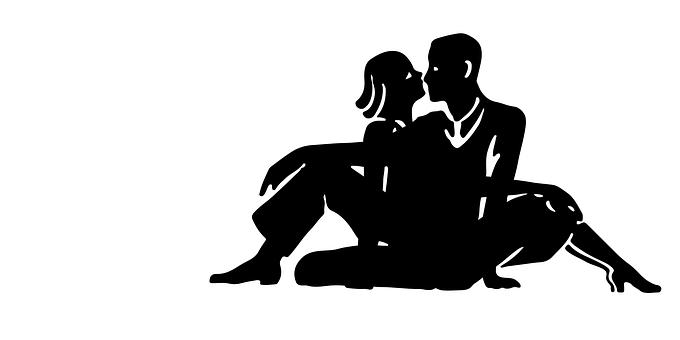 Amor, Casal, Silhueta, Sessão, Beijo