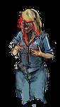 zombie, girl, woman