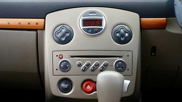 車, インテリア, ダッシュボード, パネル, 車内, 車両, 機器