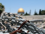 barbed wire, jerusalem, israel