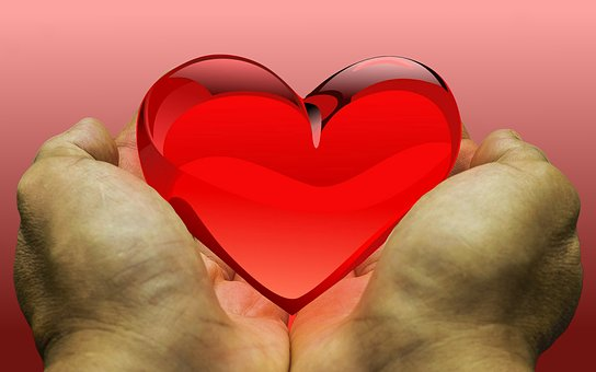 感じ, 愛, 心, 寄付, 感謝の気持ち, ご