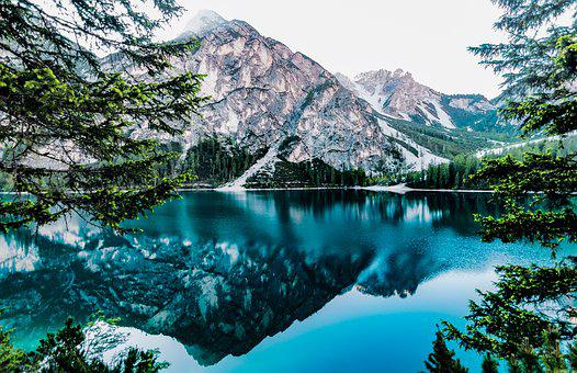 Lake, Mountain Lake, Mirroring, Water