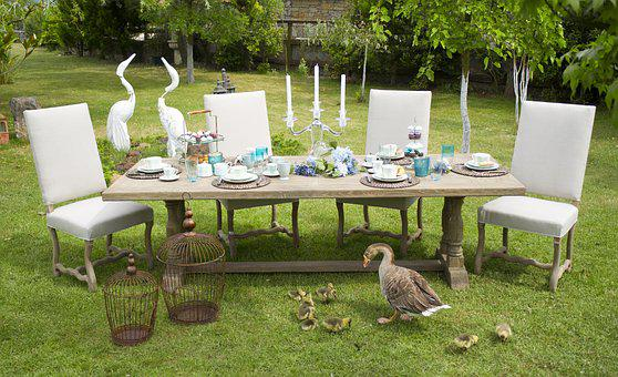 Wonderful Table, Invite, Food, Garden, Home