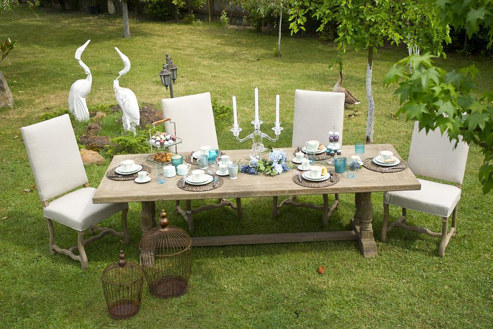 Free photo furniture table grass garden free image - Arredare giardino esterno ...