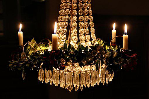 Crystal chandelier images pixabay download free pictures candlelight crystal chandelier mozeypictures Images