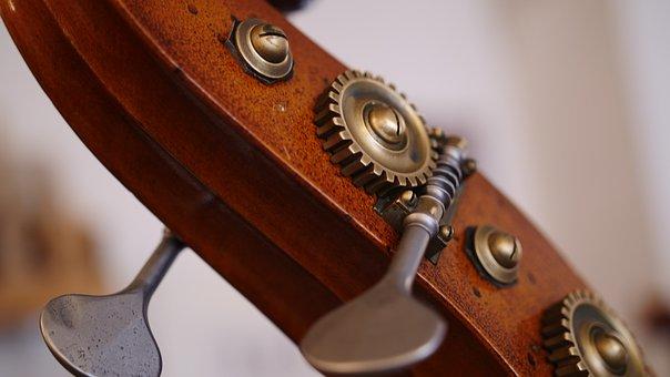 Close Up, Double Bass, Screw, Mechanics