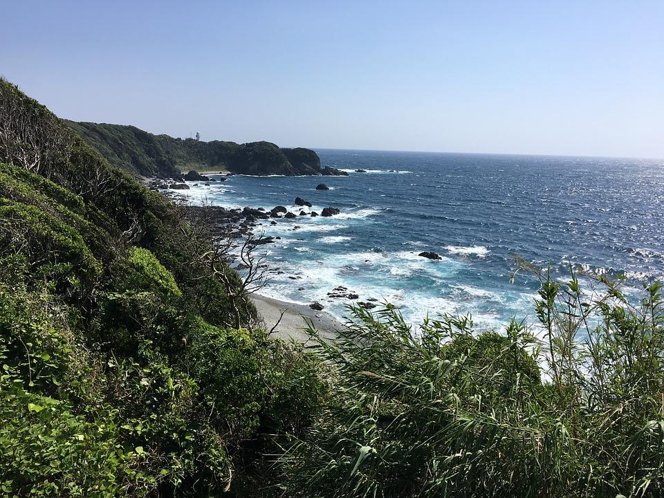 海, 海岸, 千畳敷, 日本, 和歌山, 白浜