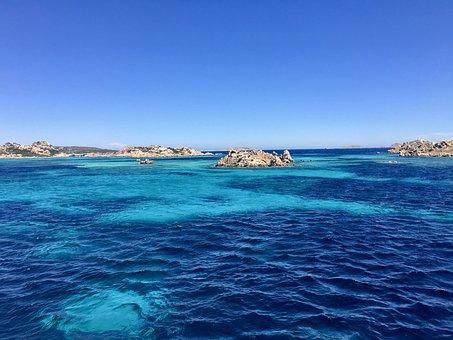 Sardegna, La Madelenna, Blu, Mare