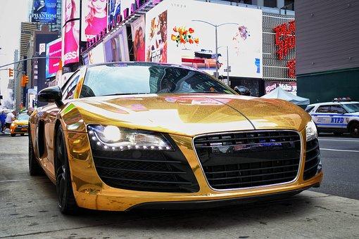 Auto, Audi, R8, Audir8, Gold, Empire