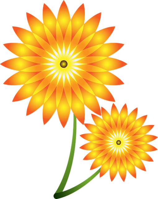 sunflowers vector flower 183 free vector graphic on pixabay