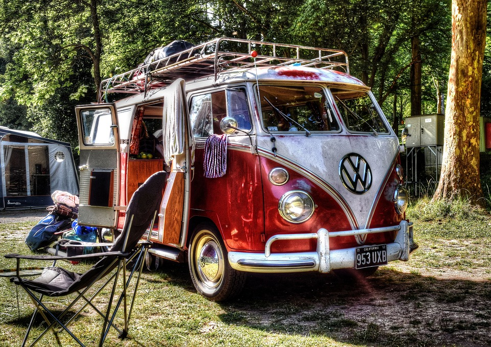 Vwbus, キャンプ, キャンピングカー